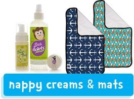 Changing creams & mats