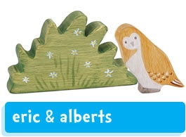 Eric & Albert's wooden figures