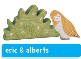 Eric & Albert's wooden figures