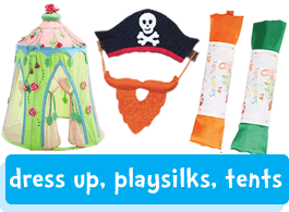 silks tents & dress up