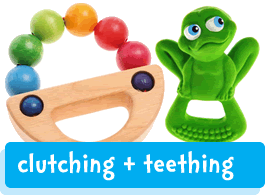 baby clutching & teething toys