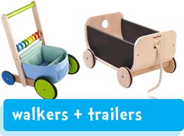wooden baby walkers