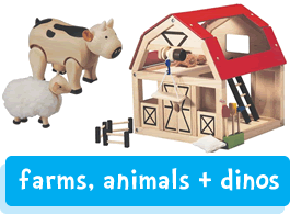 farm, animals & dinosaurs