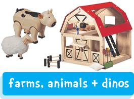 farm, animals & dinosaurs