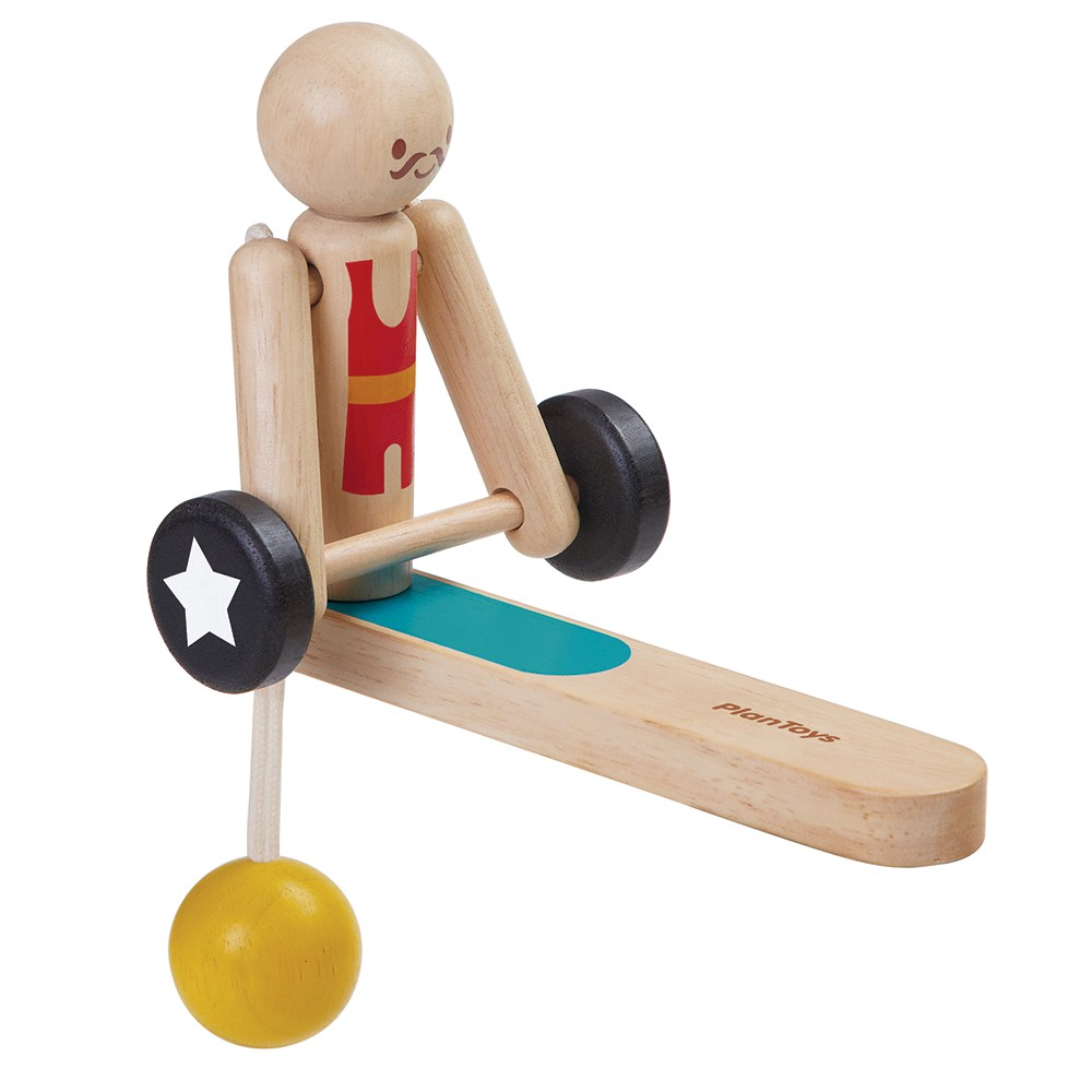 Wooden Toys Product : Plan toys weightlifting acrobat