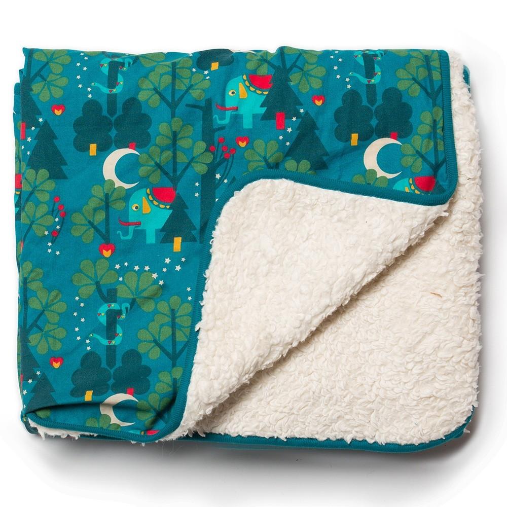 Lgr midnight jungle sherpa blanket for Sherpa blanket