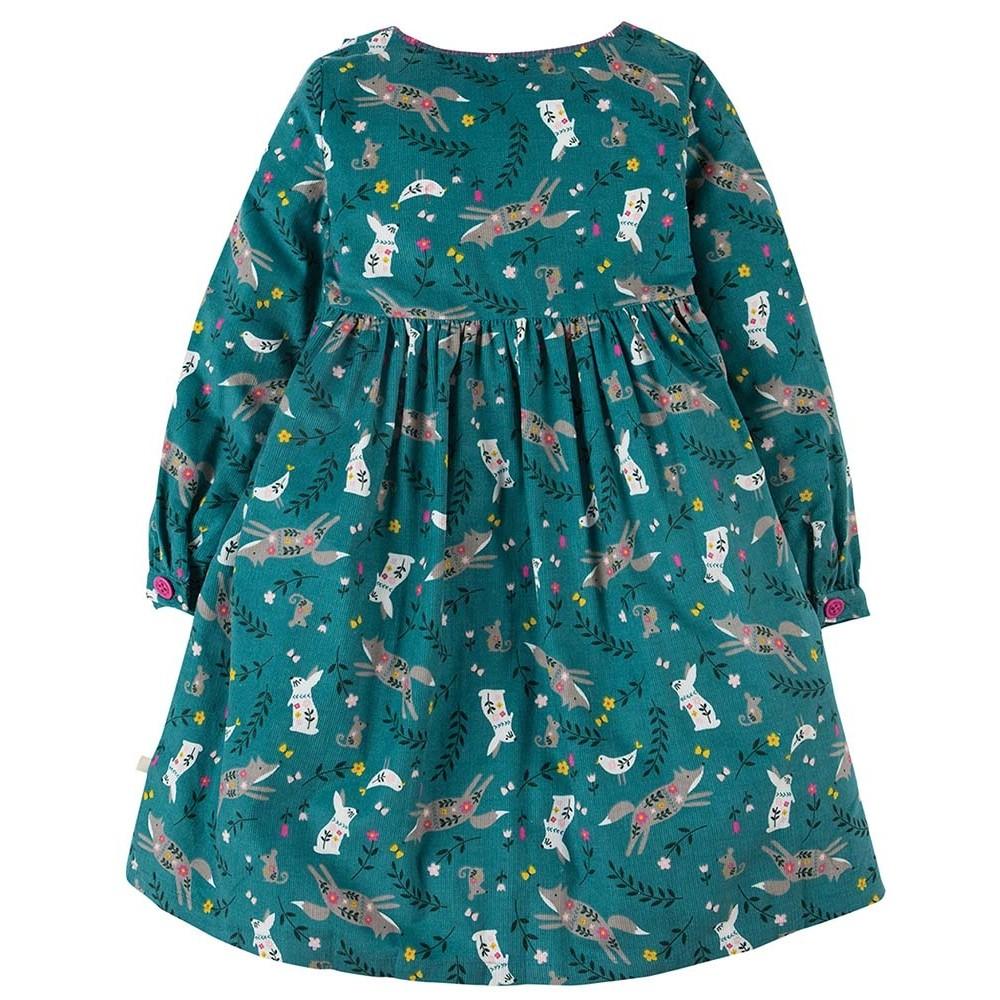 Frugi Alpine Friends Bonnie Button Dress