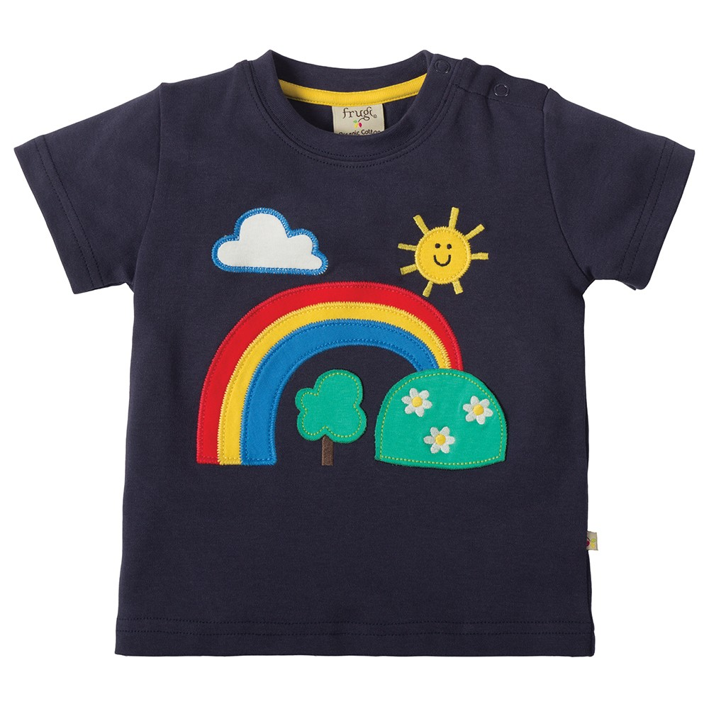 Frugi Rainbow Little Creature Applique T-shirt