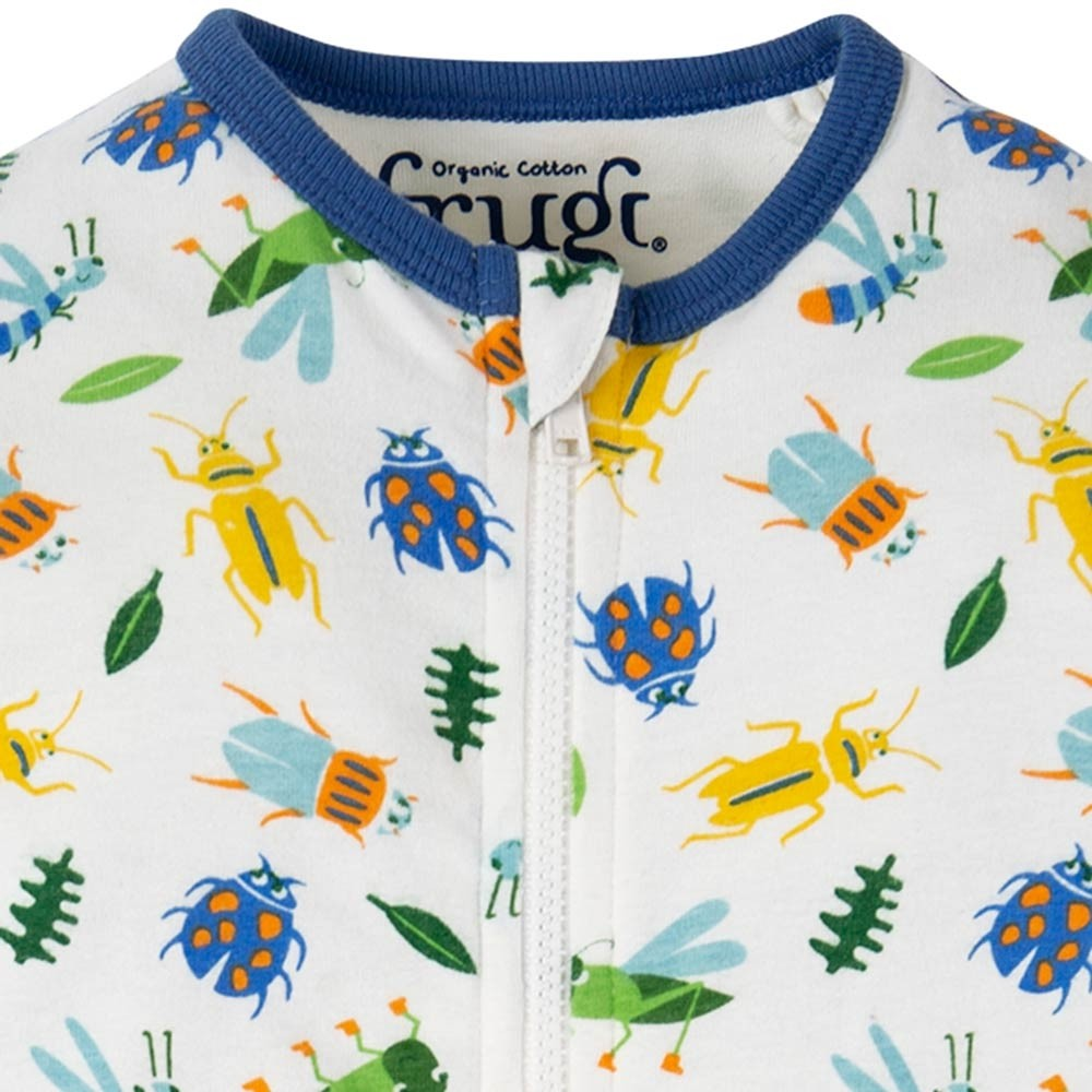 Frugi Bug Hunt Summer Zip Babygrow