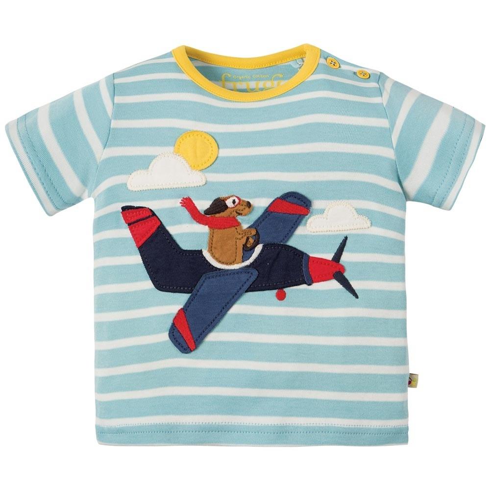 Frugi Plane Atlantic Applique T Shirt