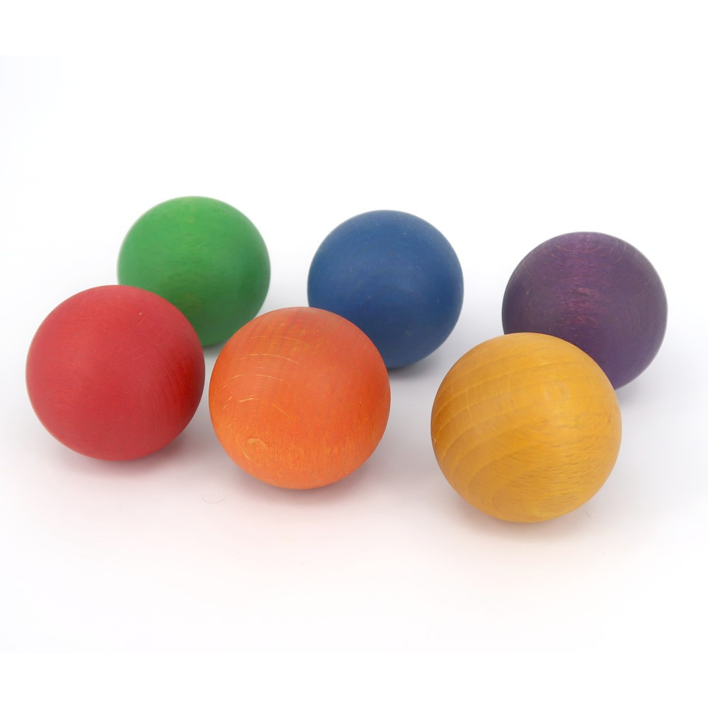 Grapat 6 Coloured Wooden Balls