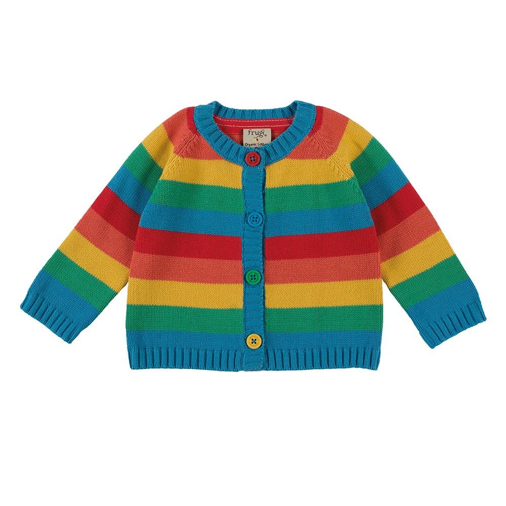 Frugi Little Happy Day Cardigan - Happy Rainbow