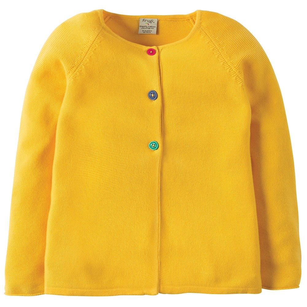 Frugi Yellow Milly Swing Cardigan