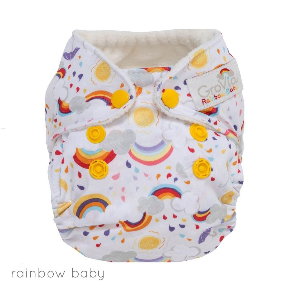 GroVia Newborn AIO Nappies - Prints