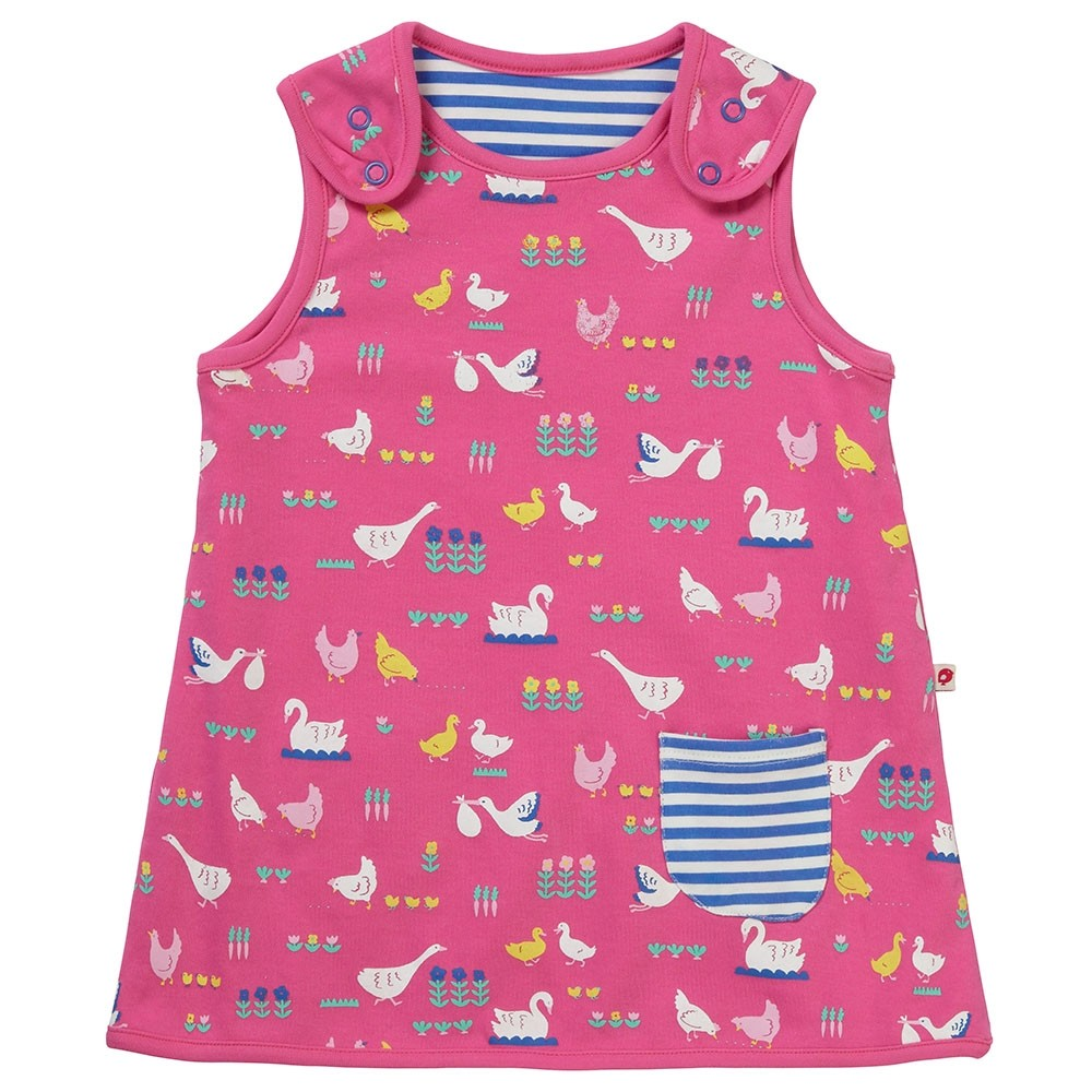 f9dcbfc07405 Piccalilly Bird Babble Reversible Dress