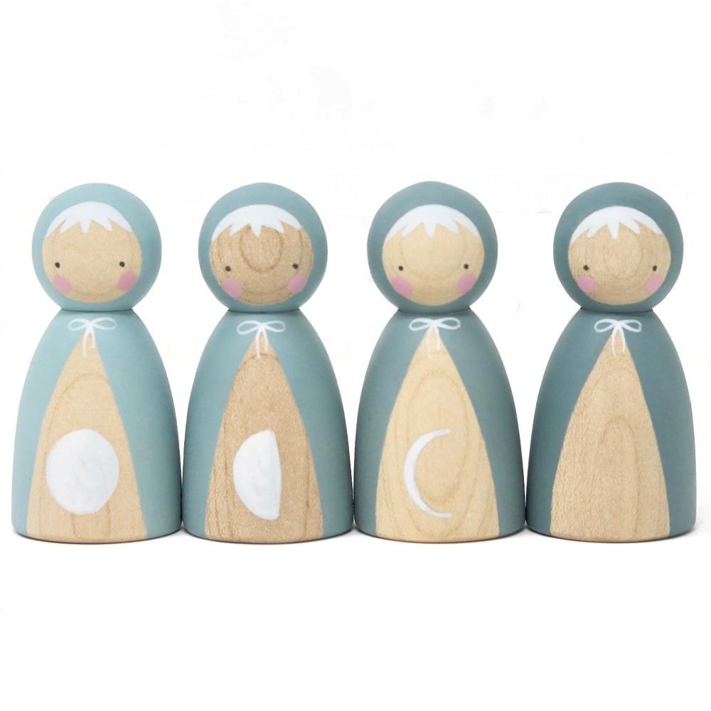 Peepul Moon Phases Peg Doll Set