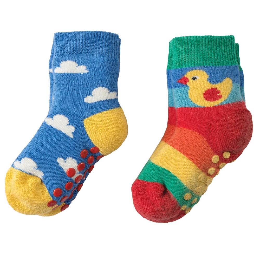 Frugi Duck Grippy Socks X2