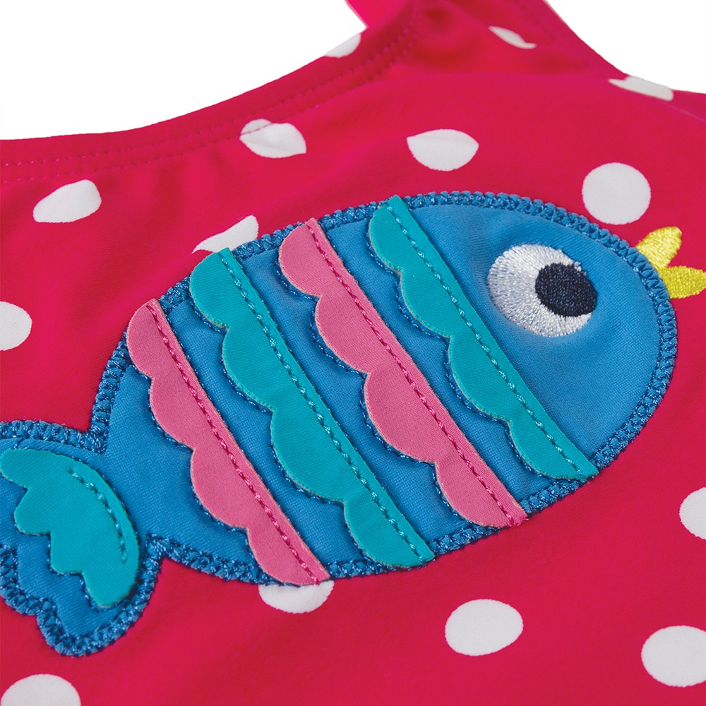 frugi spot fish applique little sally swimsuit. Black Bedroom Furniture Sets. Home Design Ideas
