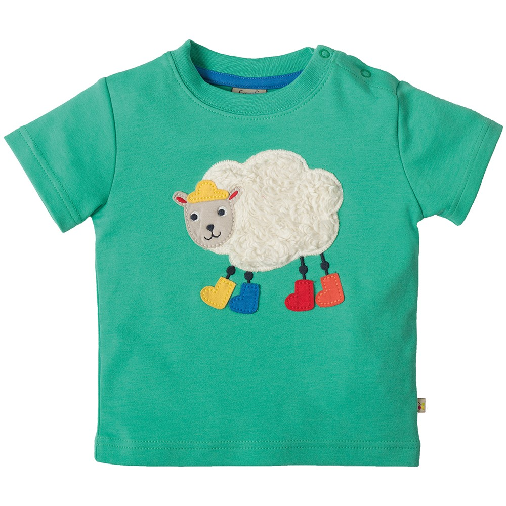 Frugi Sheep Little Creature Applique T Shirt