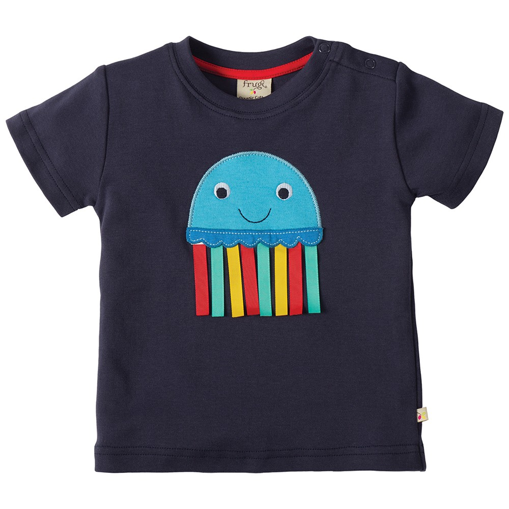 frugi jellyfish little creature applique t shirt. Black Bedroom Furniture Sets. Home Design Ideas