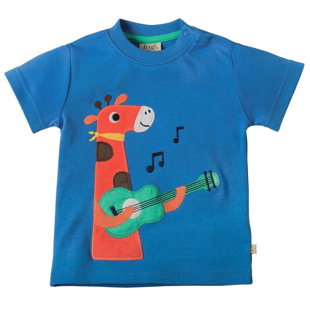 Frugi Giraffe Little Creature Applique T Shirt