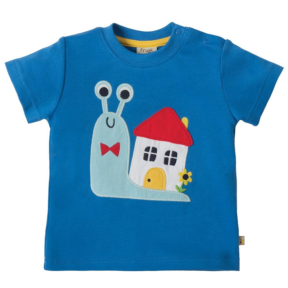 Frugi Snail Little Creature Applique T Shirt