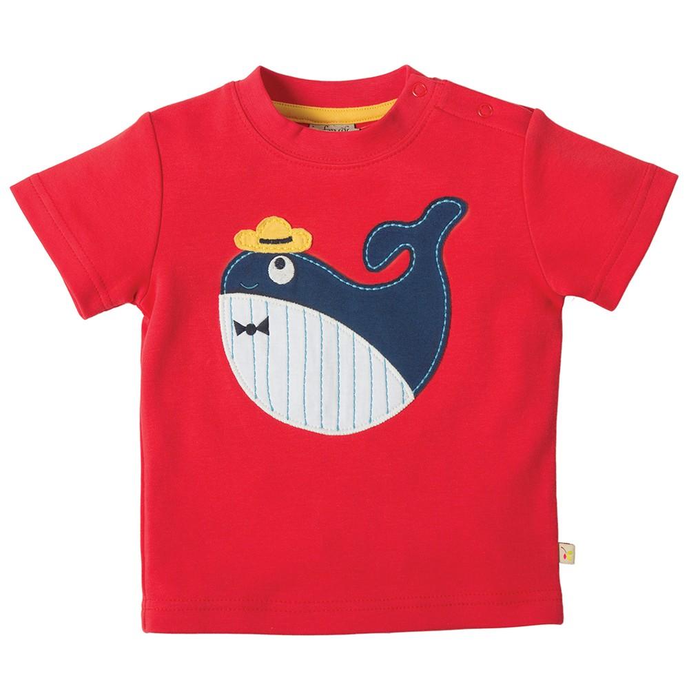 Frugi Whale Little Creature Applique T Shirt