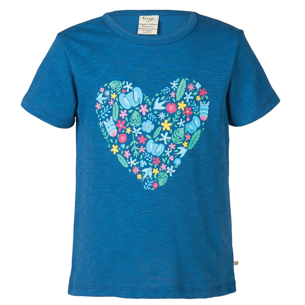 Frugi Heart Print Praa T Shirt