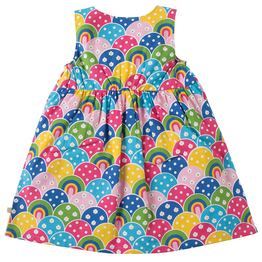 Frugi Little Pretty Party Dress - Over The Rainbow
