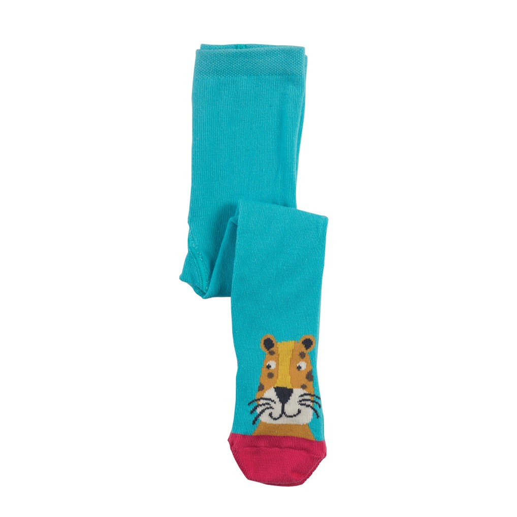 Frugi Leopard Little Twinkle Toes Tights