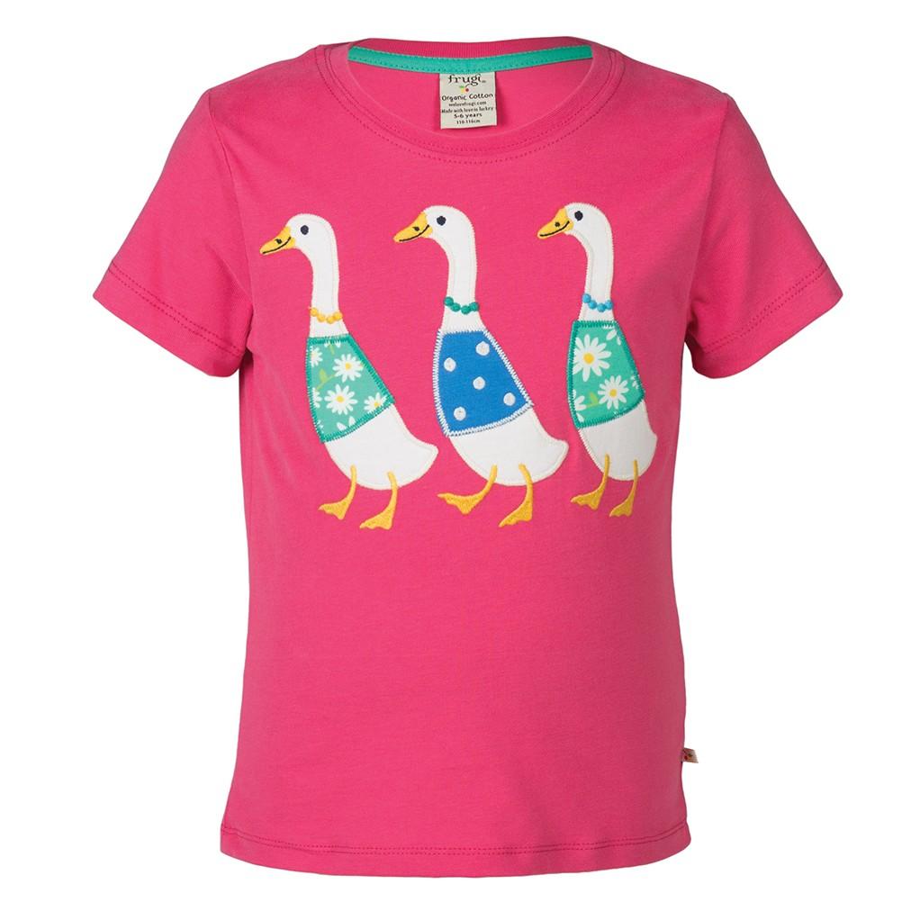 Frugi Gwenver Applique T Shirt Duck