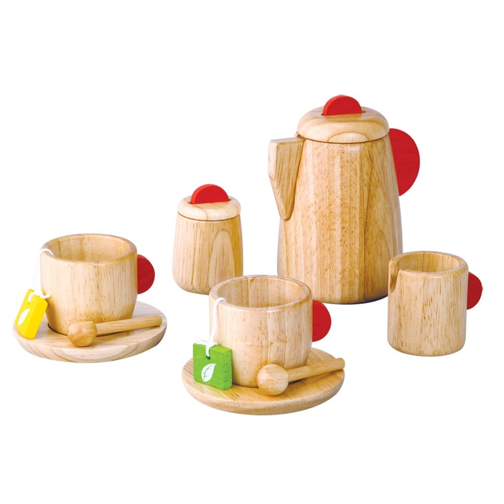 Toy Tea Set : Plan toys tea set natural