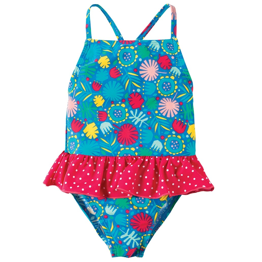 a6d3caaac7b24 Frugi Jungle Little Coral Swimsuit. Tap to expand