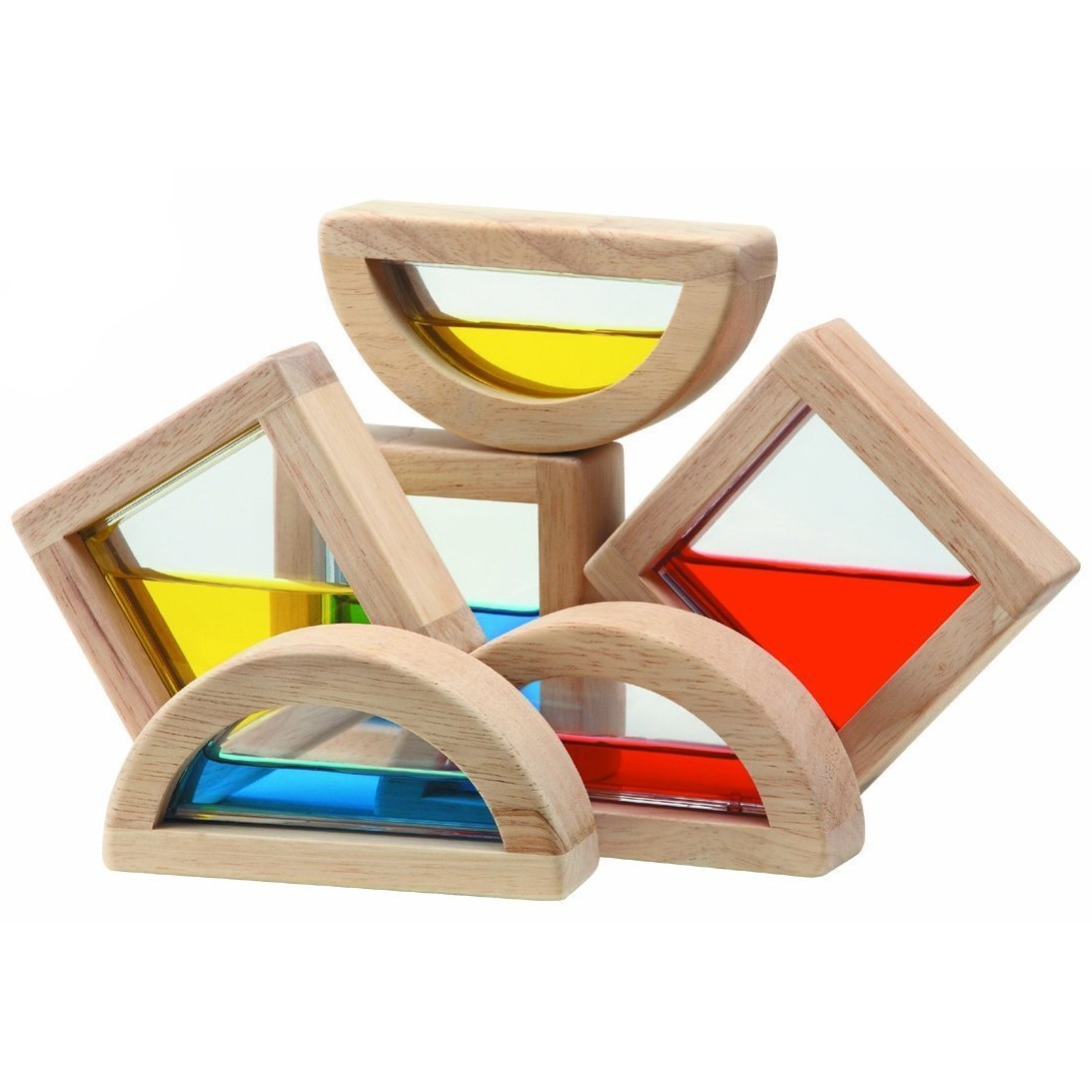 Wooden Play Toys : Plan toys water blocks