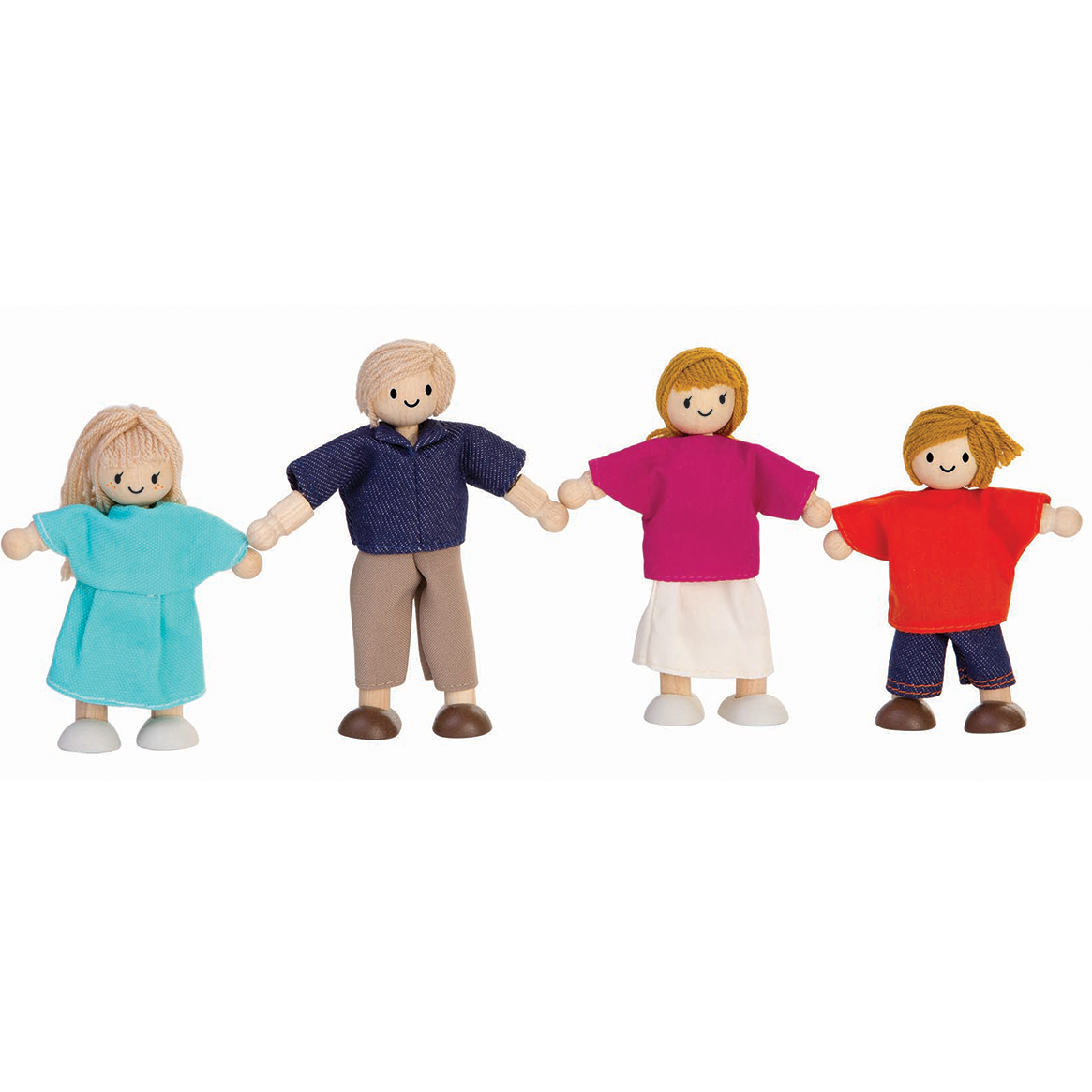 Toys For Family : Plan toys white family dolls house