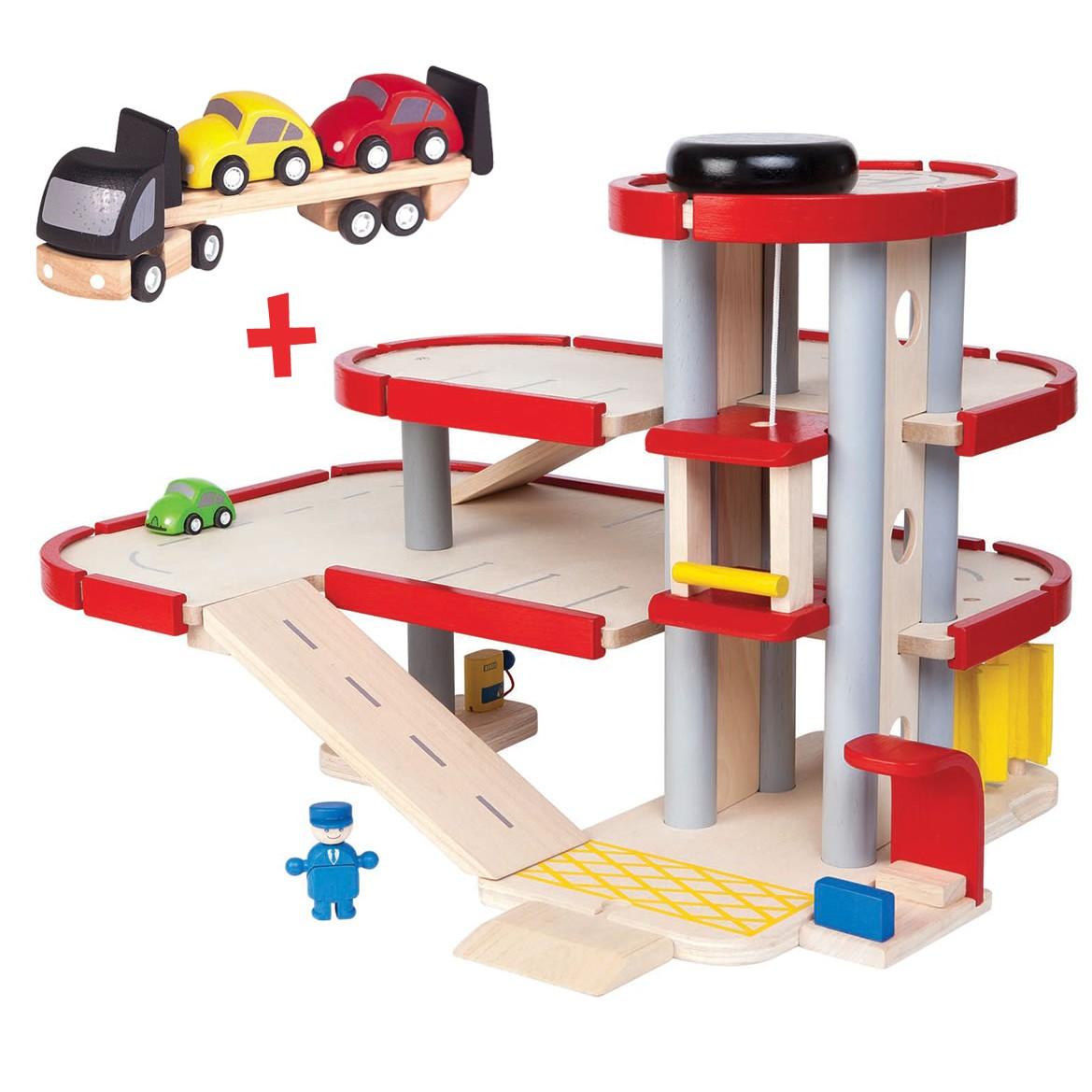 Wooden Toys Catalog : Plan toys parking garage