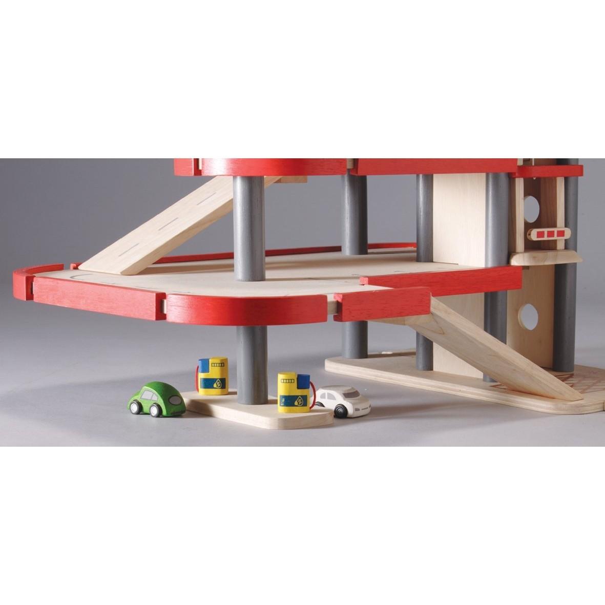 Plan toys parking garage 6227 for Toy garage plans free download