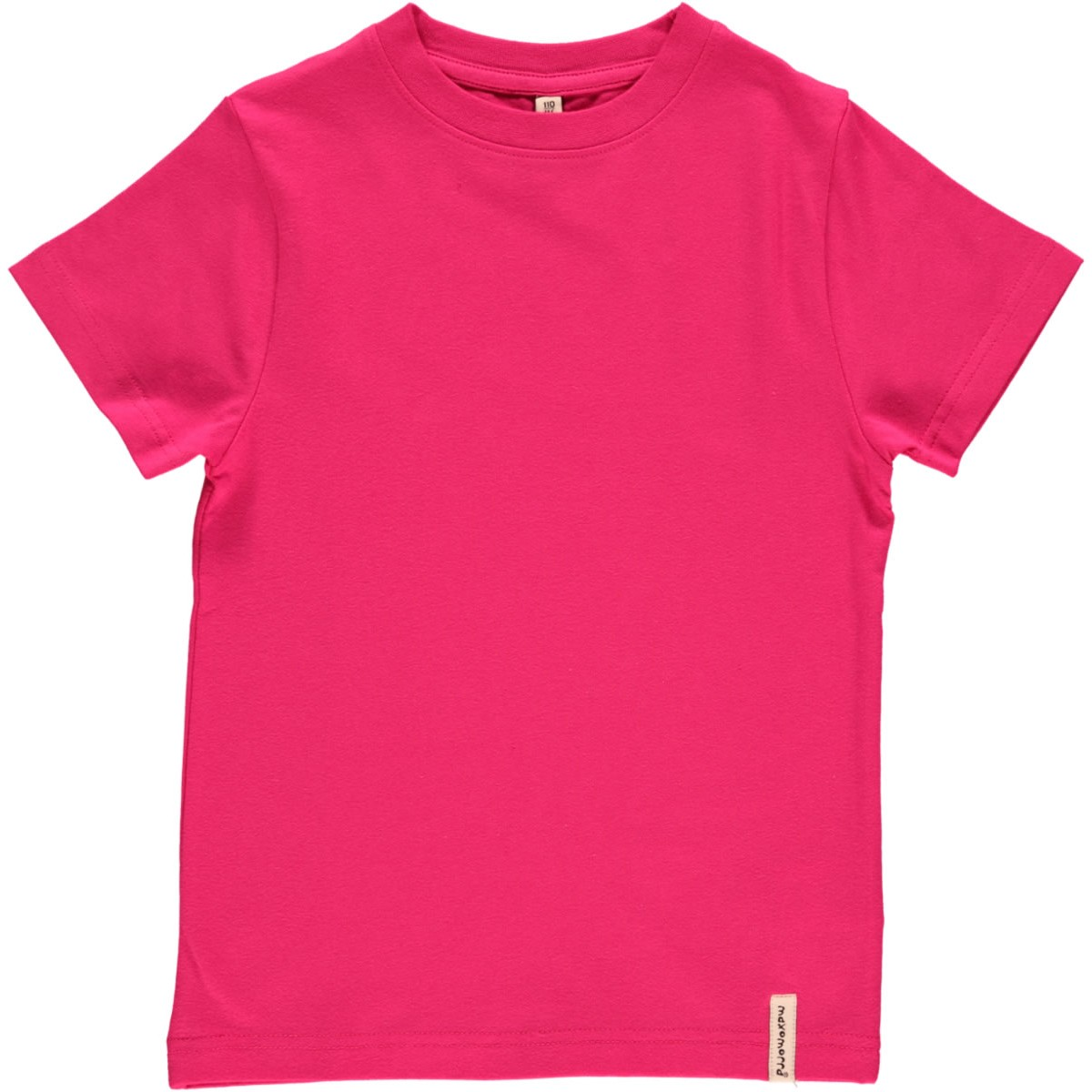Maxomorra Organic Kids SS Top Cerise Pink