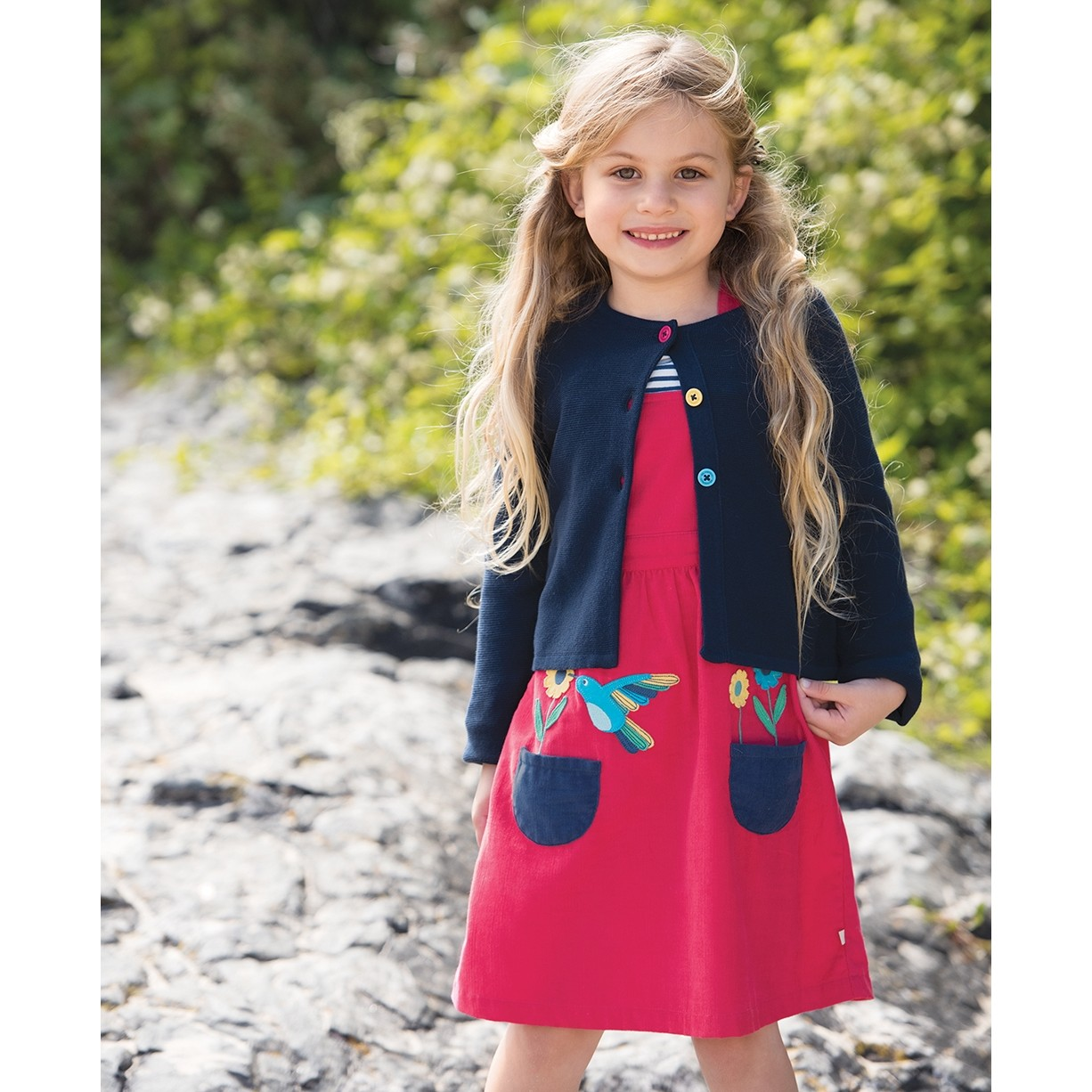 Frugi Navy Milly Swing Cardigan