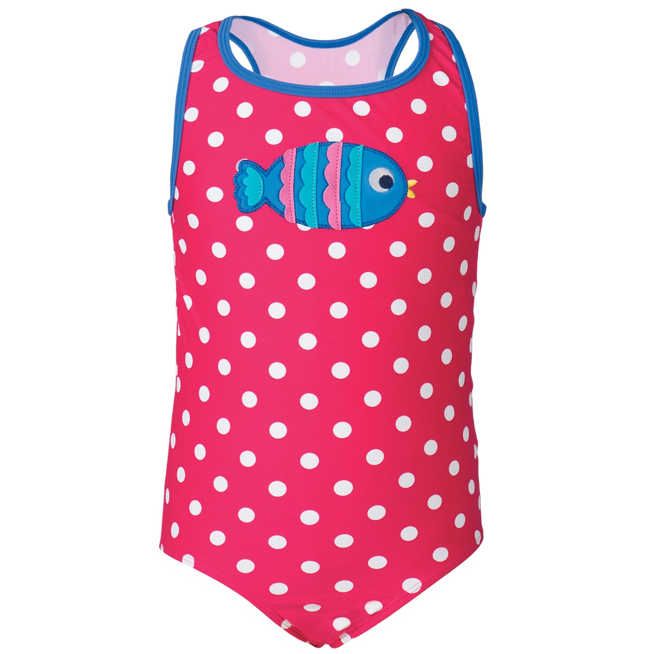 frugi spot fish applique sally swimsuit. Black Bedroom Furniture Sets. Home Design Ideas