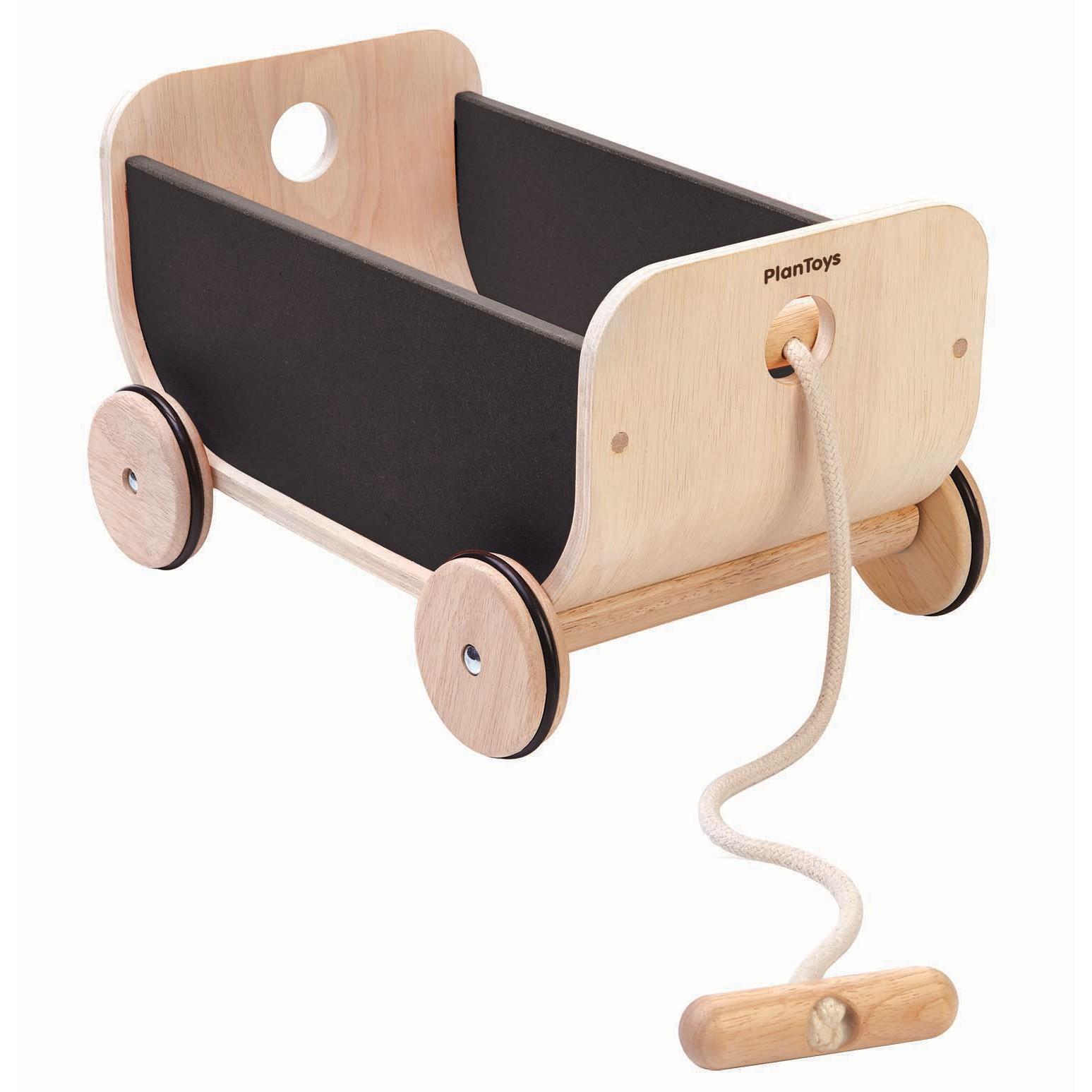 plan toys black wagon