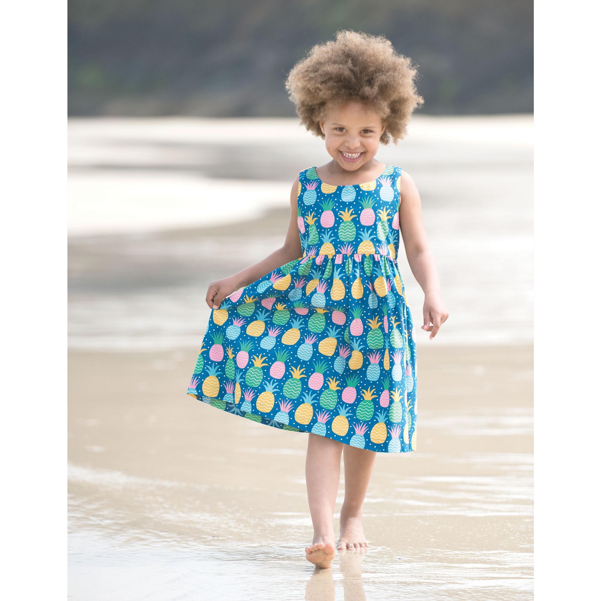 Porthcurno Party Dress - Jazzy Pineapple