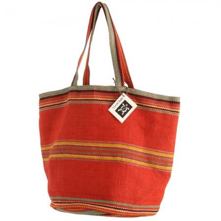 Fair Trade handwoven Red Jute Bag – Turtle Bags
