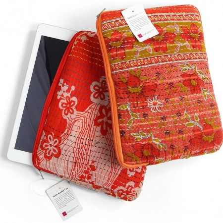 Turtle Bags Kantha Small Tablet Case