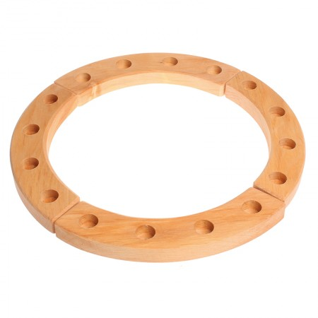 Grimm's 16-Hole Natural Wooden Ring