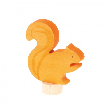 Grimm's Orange Squirrel Decorative Figure