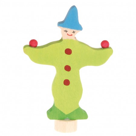 Grimm's Green Juggling Clown Decorative Figure