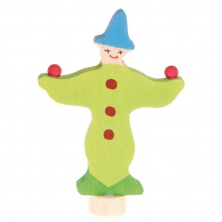 Grimm's Green Juggling Clown Decorative Figure