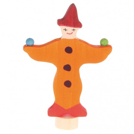 Grimm's Red Juggling Clown Decorative Figure