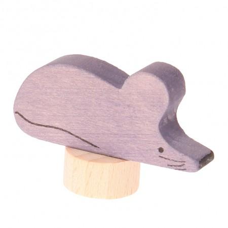 Grimm's Grey Violet Mouse Decorative Figure